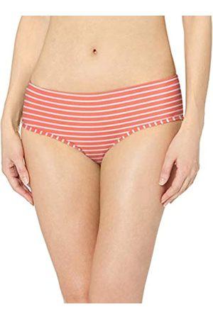Amazon Hipster Bikini Bottom Fashion-Swimsuit-Bottoms-Separates, Red & Pink Stripe