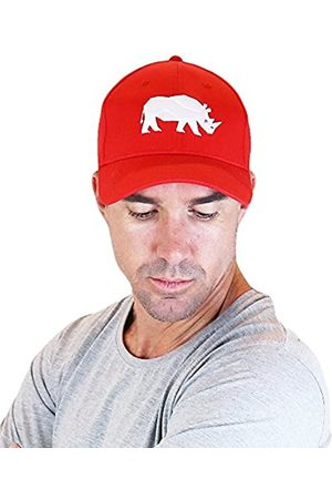 Sorai Flexifit Red Cap with Rhino Embroidery Tapa, Hombre