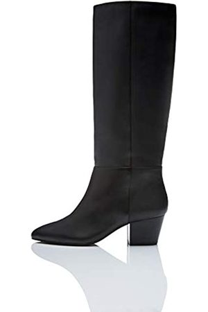 FIND Leather Botas Mosqueteras, Black