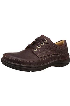 Clarks Nature Three 20339005 - Zapatos casual de cuero nobuck para hombre (Mahogany Leather)