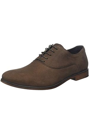 Red Tape Elmore, Zapatos de Cordones Oxford para Hombre, (Rich Chocolate 0)