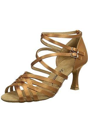 Diamant Damen Latein Tanzschuhe 108-087-379 - Zapatos de Baile - Standard & Latino para Mujer, Color (Dark Tan)