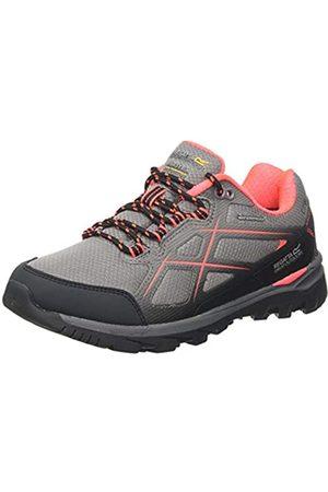 Regatta Kota Low II' Waterproof Hiking Boots, Zapatillas de Senderismo para Mujer, (Rock Grey/Fiery Coral My3)