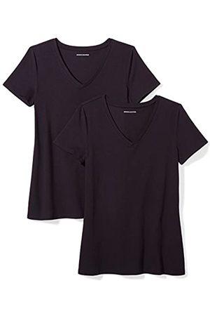 Amazon 2-Pack Short-Sleeve V-Neck Solid T-Shirt Camiseta