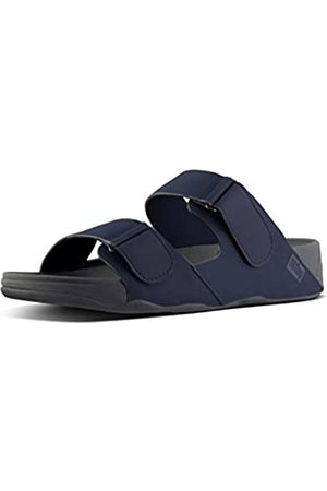 FitFlop Gogh Moc Adjustable Slide Sandals, Chanclas para Hombre, (Midnight Navy 399)