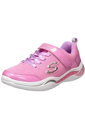 Skechers Power Petals, Zapatillas para Niñas, Morado (Purple Mesh/Multi Trim Prmt)