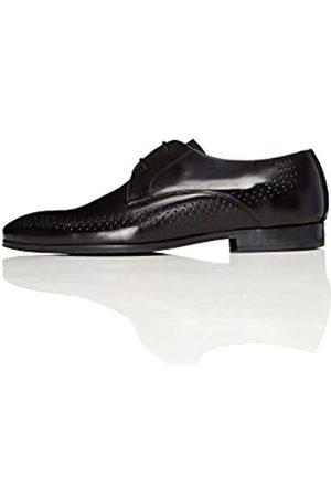 FIND Zapatos De Cordones con Perforaciones para Hombre, (Black)