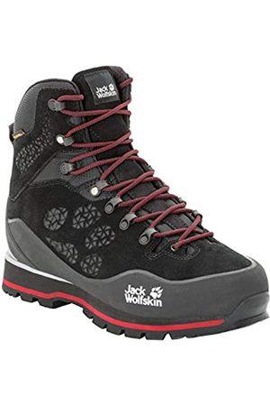 Jack Wolfskin Wilderness Peak Texapore Mid M, Zapatos de High Rise Senderismo para Hombre, (Black/Red 6047)