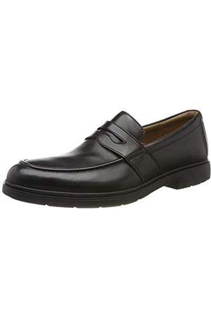 Clarks Un Tailor View, Mocasines para Hombre, Black Leather