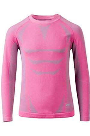 martes Grado Jr - Camiseta Interior térmica para niña, Niñas, 89102, Sharkskin/Hot Pink