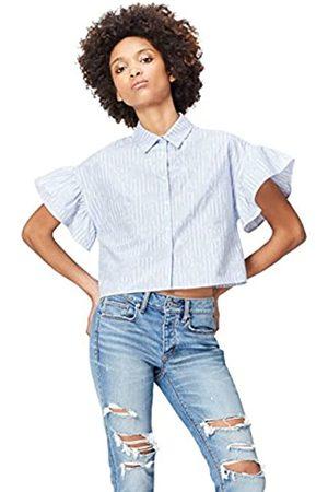 FIND Camisa Estampada con Volantes para Mujer