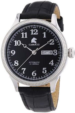 Carucci Watches Prato - Reloj de automático para Hombre, con Correa de Cuero