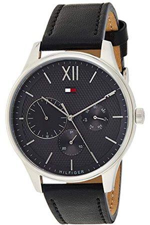 Tommy Hilfiger Reloj Multiesfera para Hombre de Cuarzo con Correa en Cuero 1791417