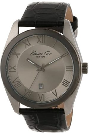 Kenneth Cole Reloj Analógico para Hombres de Cuarzo con Correa en Cuero 10008374