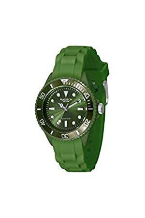 Madison New York Reloj Análogo clásico para Unisex de Cuarzo con Correa en Caucho L4167-18