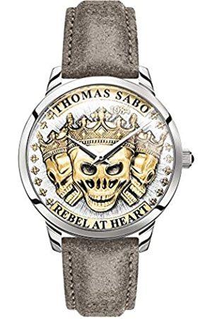 Thomas Sabo Reloj Analógico para Hombre de Cuarzo con Correa en Cuero WA0356-273-207-42 mm
