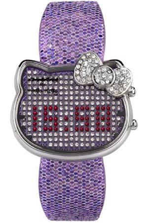 Hello Kitty Reloj Digital para Mujer de Cuarzo con Correa en Piel V119G BWMB