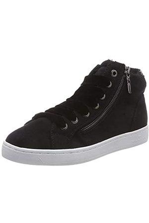 TOM TAILOR 5892609, Zapatillas Altas para Mujer, (Black 00001)