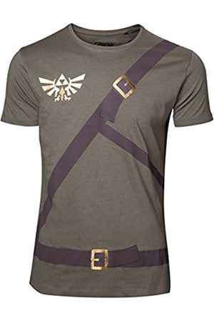 Meroncourt Nintendo Legend of Zelda Men's Link's with Belts T-Shirt, Extra Large, Camiseta