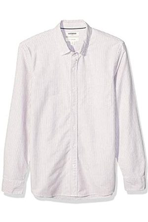 Goodthreads Slim-Fit Long-Sleeve Striped Oxford Shirt w/Pocket Button-Down-Shirts, Red Bengal Stripe