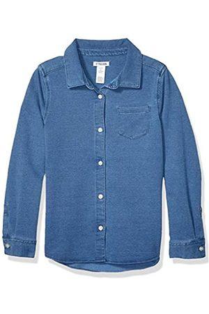 Spotted Zebra Knit Denim Shirt button-down-shirts