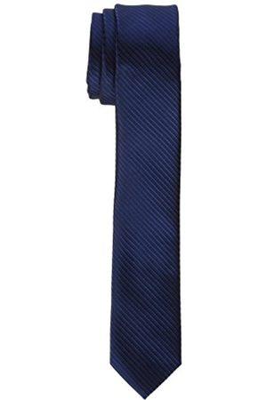 James Tyler Schmal, handgefertigt Corbata, Blau Gestreift)