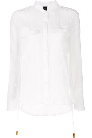 Armani Camisa translúcida con bolsillos