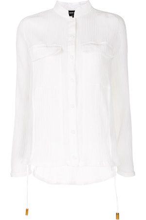 Armani Mujer Camisas - Camisa translúcida con bolsillos