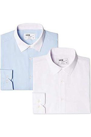 FIND Slim Fit Collar, Camisa de Oficina para Hombre, 50 (Talla del Fabricante: 15.5)