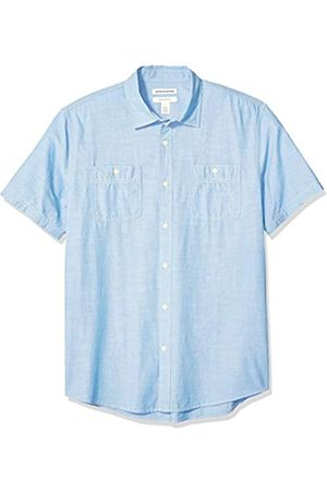 Amazon Camisa de cambray de manga corta para hombre