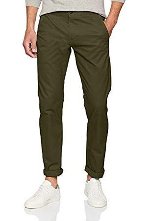 Dockers Alpha Khaki Tapered Twill Pantalones, (Stretch Olive)