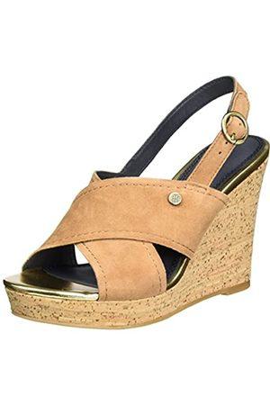 Tommy Hilfiger E1285del 6b, los Zapatos de tacón con una Correa Alrededor del Tobillo para Mujer, (Summer Cognac)