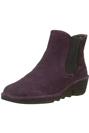 Fly London Phil, Botas Chelsea para Mujer, Morado (Purple 042)