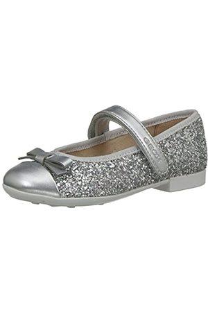 Geox Jr Plie' A, Bailarinas para Niñas, (Silver)