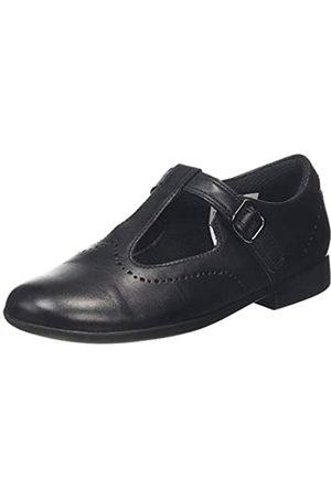 Clarks Scala Seek K, Sandalias Punta Cerrada para Niñas, (Black Leather Black Leather)