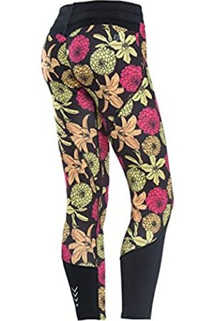Freddy Mujer Pantalones capri y midi - WR.UP® Shaping Effect - Talle bajo - 7/8 - Tejido técnico Transpirable D.I.W.O.® - Estampado Total de Flores - Allover Flores-Negro - Small