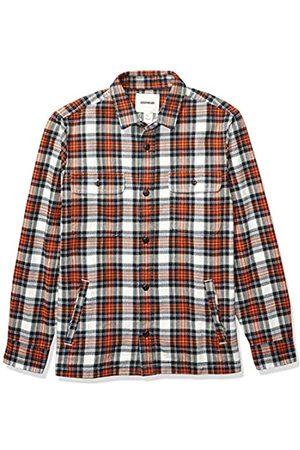 Goodthreads Marca Amazon - - Chaqueta de estilo camisa de franela muy resistente para hombre