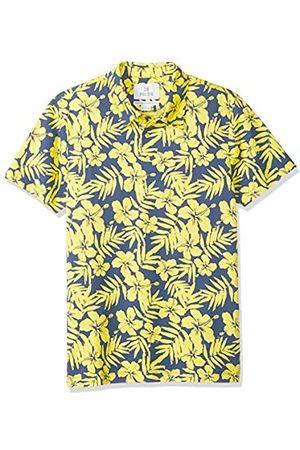 28 Palms Marca Amazon - - Polo de golf de piqué con estampado tropical, algodón de calidad, corte estándar.