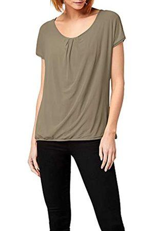 Berydale Camiseta de manga corta de doble capa con tejido de malla para mujer, Olive