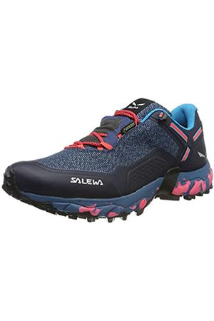 Salewa WS Speed Beat GTX, Zapatillas de Running para Asfalto para Mujer, (Patriot Blue/Fluor Coral 8638)