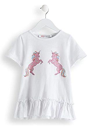 RED WAGON Niña Manga corta - Girl's Unicorn T-Shirt, White