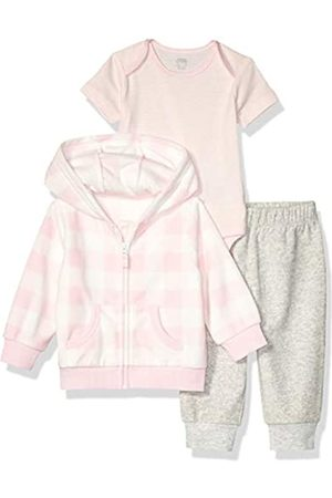 Amazon 3-Piece Microfleece Hoodie Set Fashion, Pink Buffalo Check