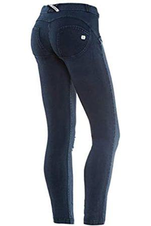 Freddy WR.UP® Shaping Effect - Talle Bajo - Pitillo - Parte Trasera en Jersey - Parte Delantera en True Envejecido - Jeans Scuro-Costuras - Large
