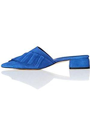 FIND Zapatos Tacón Bajo Mujer, (Blue)