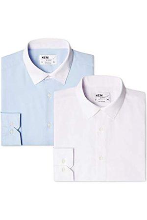 FIND 2 Regular Fit Collar, Camisa de Oficina para Hombre, 48 (Talla del Fabricante: 15)