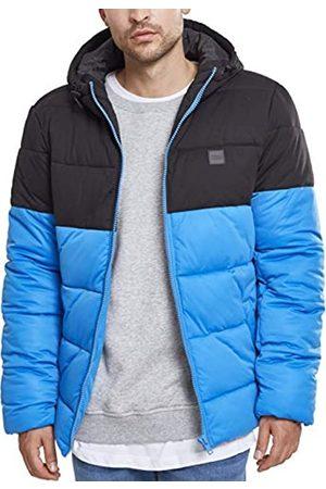 Urban classics Hooded 2-Tone Puffer Jacket, Chaqueta para Hombre, Blau (Brightblue/Blk 01435)