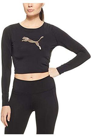 Puma Luxe Crop T-Shirt, Mujer, Black