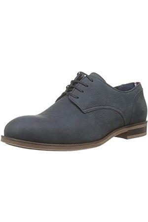 Tommy Hilfiger Dress Casual Nubuck Shoe, Zapatos de Cordones Oxford para Hombre, (Midnight 403)