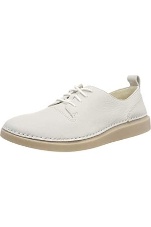 Clarks Hale Lace, Zapatos de Cordones Derby para Mujer, (White Leather)