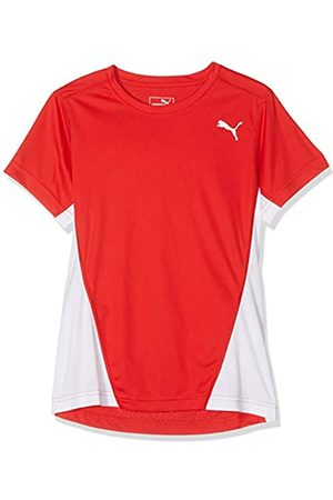 Puma Mädchen Cross The Line T-Shirt, White Red
